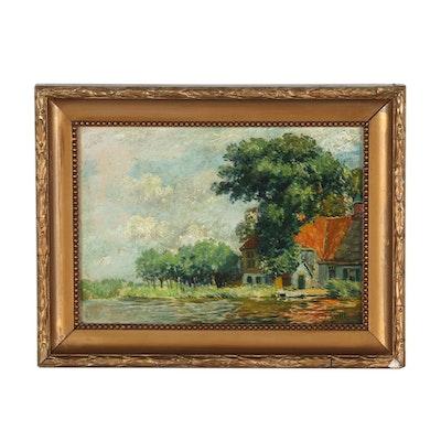 Jan Suhl Landscape Oil Painting