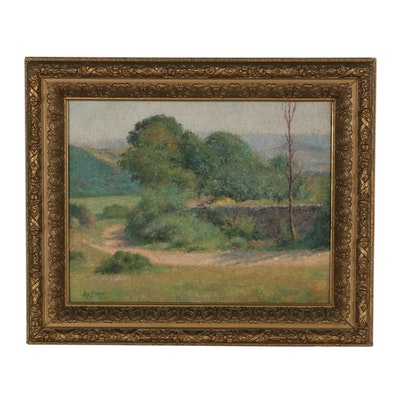 Georges Aufray Landscape Oil Painting