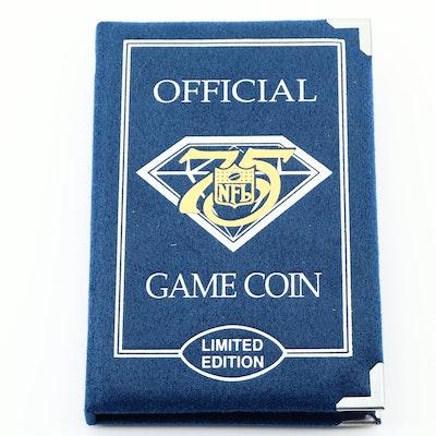 1994 Detroit Lions Commemorative NFL 75th Anniversary Silver Round