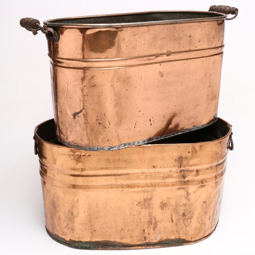 Antique Copper Boilers