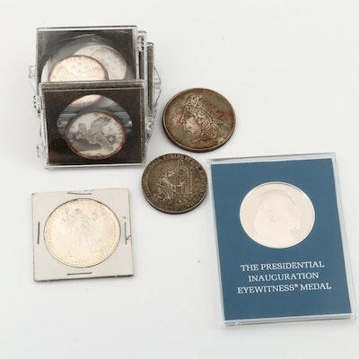 Ten Commemorative/Advertising Silver Rounds