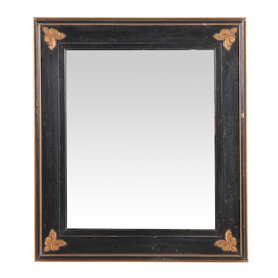Black and Gold Tone Mirror, Contemporary