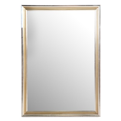 Gold- and Silver-Painted Mirror, Contemporary