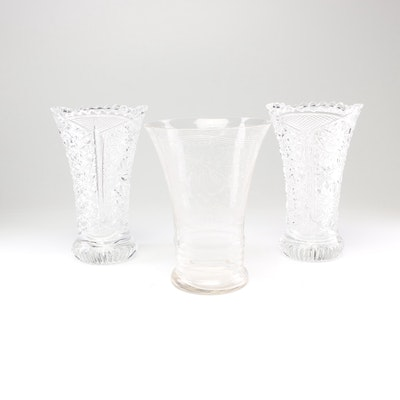 Cut Crystal Vases