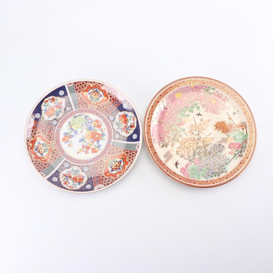 Japanese Imari and Satsuma Ceramic Charger Plates