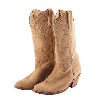 Men's Frye Tan Suede Western Style Boots