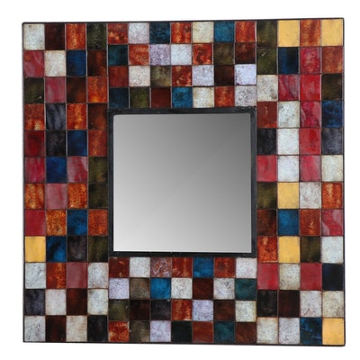"Pier 1 Imports ""Patina Square"" Decorative Mirror, Contemporary"