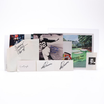Sports Autographs Including Jeff Gordon, Lee Trevino, Gene Sarazen, and More