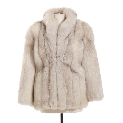 Blue Fox Fur Jacket, Vintage