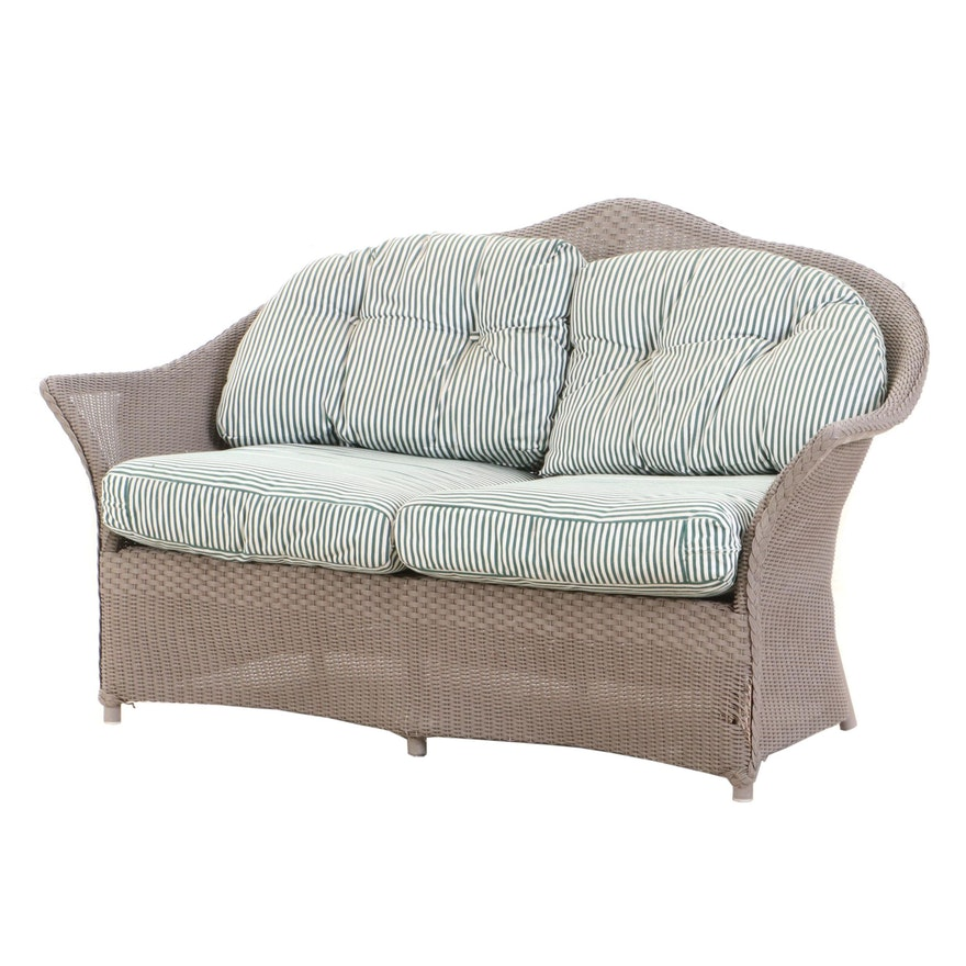 Lloyd Loom Wicker Outdoor Loveseat