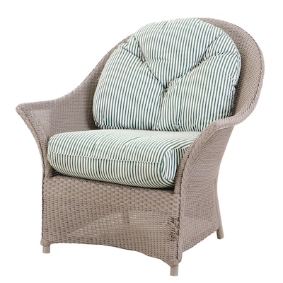 Lloyd Loom Wicker Outdoor Chair with Cushions
