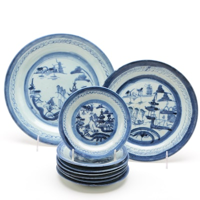Chinese Porcelain Canton Dinnerware, Qing Dynasty