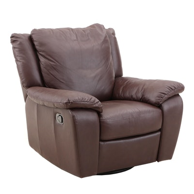 Italsofa Leather Swivel Armchair