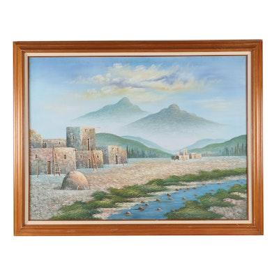 Southwestern Landscape Oil Painting