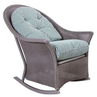 Lloyd Loom Wicker Outdoor Rocking Chair