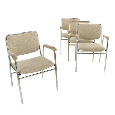 Four Mill & Mfg. Distr. Inc., Modernist Chromed Tubular Steel Office Armchairs