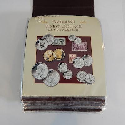 "PCS ""America's Finest Coinage"" Proof Set Album, 1993 to 2006"