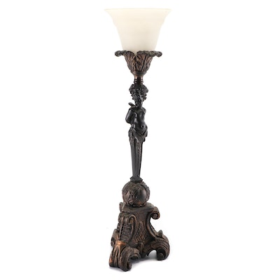 Figural Torchiere Table Lamp