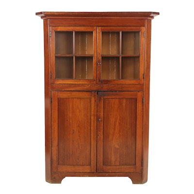 Wooden Corner Cupboard, Late 19th, Early 20th Century