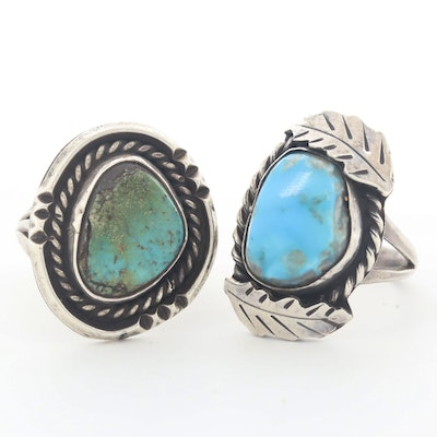 Southwestern Style Turquoise Sterling Silver Rings