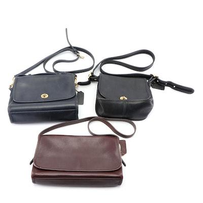 Coach Leather Saddle Bags