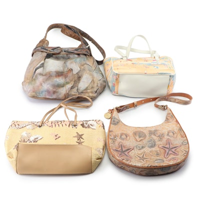 Jane Yoo Hand-Painted Shoulder Bag with Other Shoulder Bags