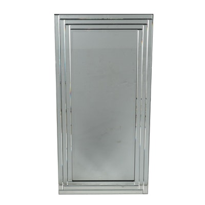 Beveled Panel Wall Mirror, Contemporary