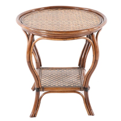 Bamboo Two-Tier Side Table, 20th Century