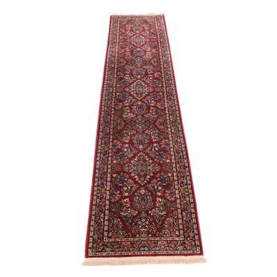 "Machine Made Karastan ""Red Sarouk"" Wool Carpet Runner"