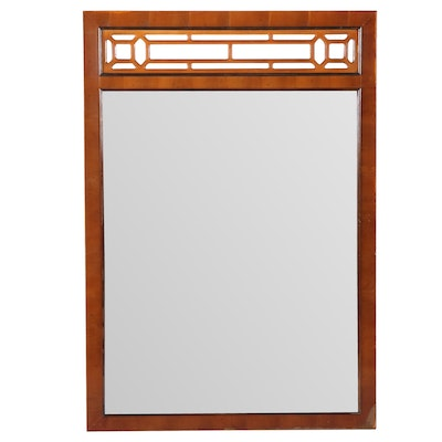 """Chinoiserie Mirror Attributed to Bassett Furniture """"Raffles"""" Collection"""