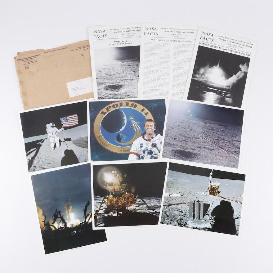 Alan Shepard Autograph, Photographic Prints and NASA Ephemera