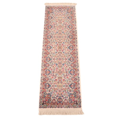 "Machine Made Karastan ""Floral Kirman"" Wool Carpet Runner"