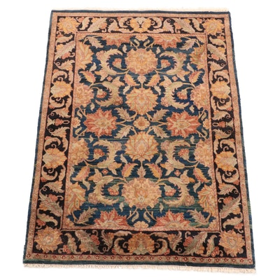 Hand-Knotted Indian Floral Wool Rug from The Rug Gallery