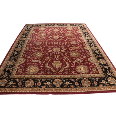 Tufted Indian Agra Style Wool Room Sized Wool Rug