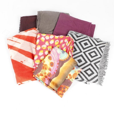 Silk and Cotton Scarves Featuring Max Mara