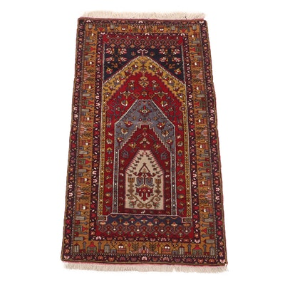 Hand-Knotted Persian Baluch Taimani Wool Prayer Rug