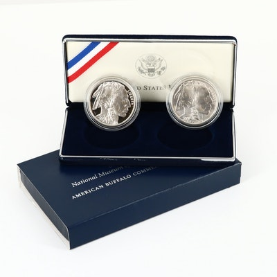 2001 American Buffalo Commemorative Silver Dollar Two-Coin Set