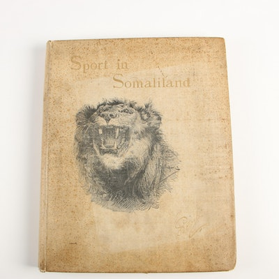 "1900 Signed Limited Edition ""Sport in Somaliland"" by Count Joseph Potocki"