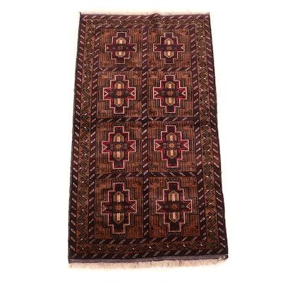 Hand-Knotted Bazaar Ahtamara Turkish Baluch Wool Rug