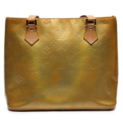 Louis Vuitton Citrine Monogram Vernis Houston Tote Bag