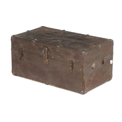 Copper Painted Steamer Trunk, Early 20th Century