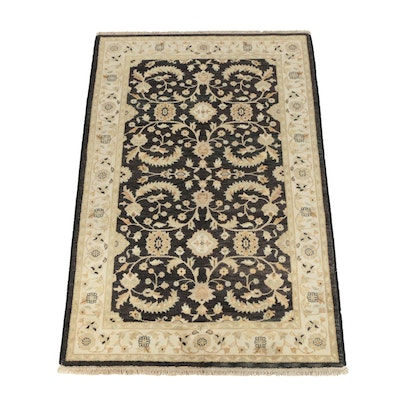 Hand-Knotted Indo-Oushak Wool Area Rug