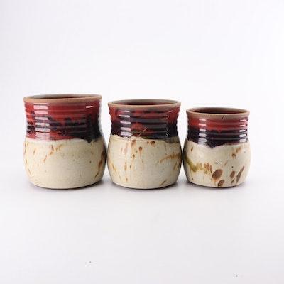 Ayers Thrown Stoneware Jars, Contemporary