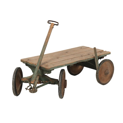 Primitive Style Wooden Wagon, Early to Mid 20th Century
