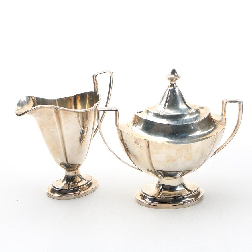 International Silver Co Sterling Creamer And Sugar Bowl