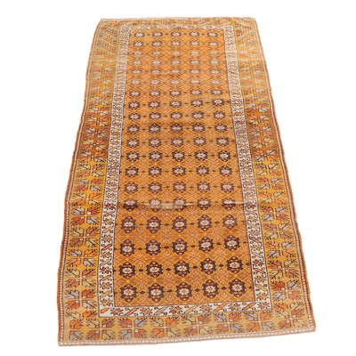 Handwoven Turkish Oushak Wool Long Rug