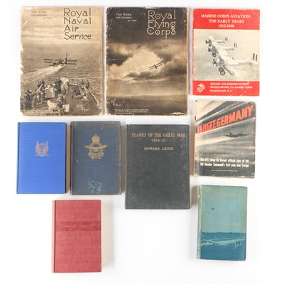 "Vintage Military Air Craft Books with Illustrated ""Planes of the Great War"""
