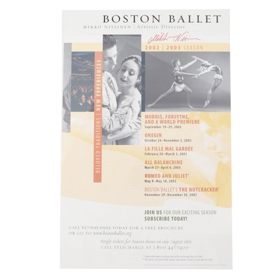 """Signed """"Mikko Nissinen"""" Boston Ballet Poster"""