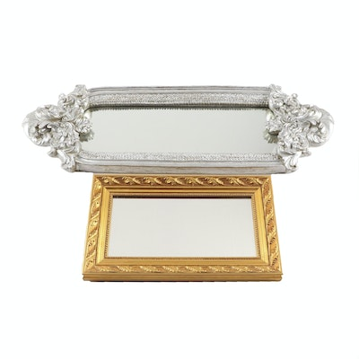 Gold Painted and Baroque Style Silver Painted Decorative Mirrors