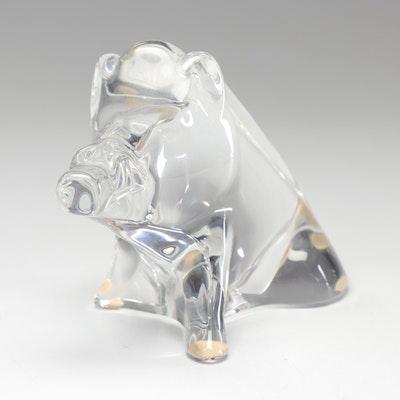 Baccarat Crystal Warthog Figurine